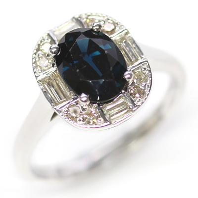 White Gold Sapphire and Diamond Art Deco Dress Ring 1.jpg