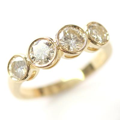 18ct Yellow Gold Four Diamond Dress Ring 1.jpg