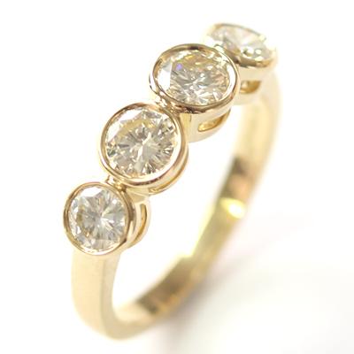 18ct Yellow Gold Four Diamond Dress Ring 3.jpg