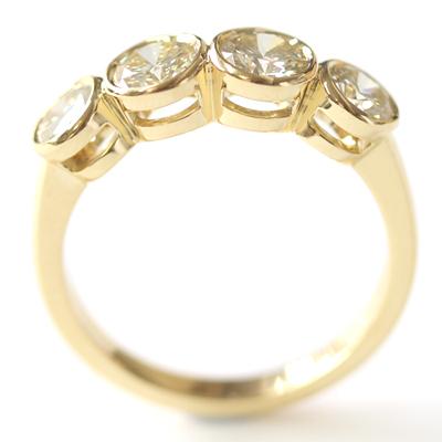 18ct Yellow Gold Four Diamond Dress Ring 4.jpg