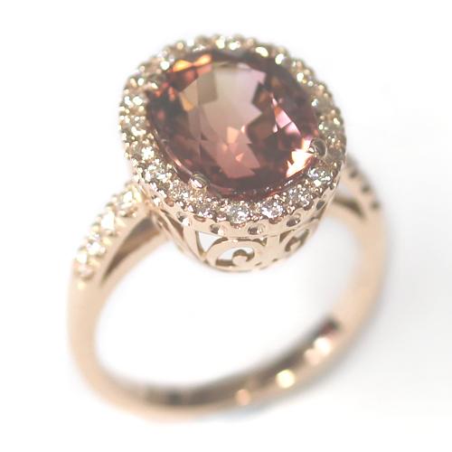 Rose Gold Tourmaline and Diamond Dress Ring 2.jpg