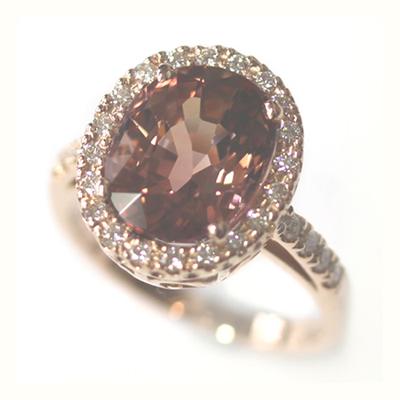 Rose Gold Tourmaline and Diamond Dress Ring 3.jpg