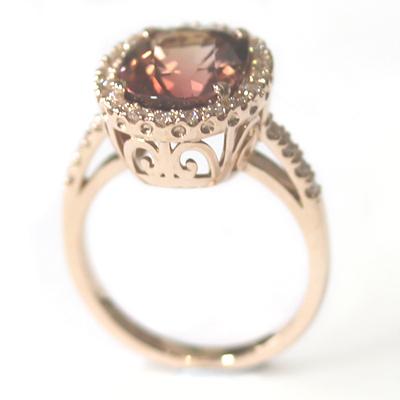 Rose Gold Tourmaline and Diamond Dress Ring 4.jpg
