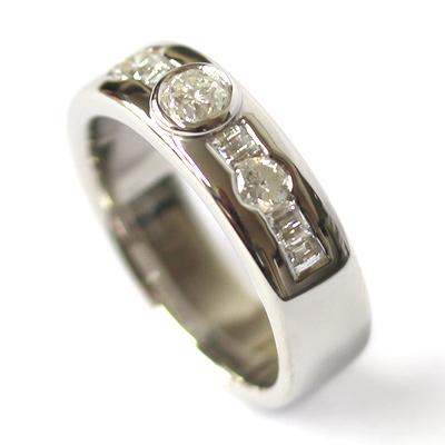 Palladium Rub Set Diamonds Dress Ring 4.jpg