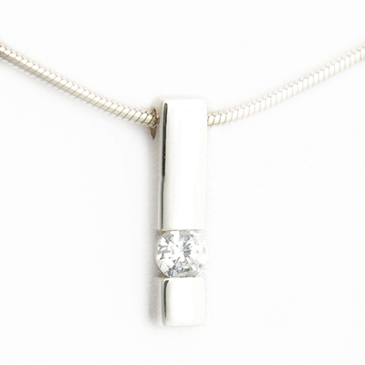 9ct White Gold Tension Style Diamond Pendant 3.jpg