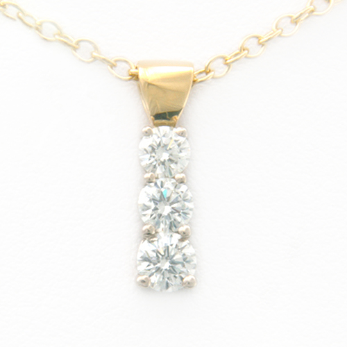 18ct Yellow Gold Trilogy Diamond Pendant.jpg