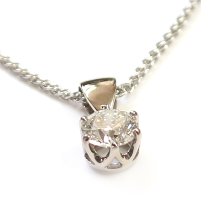 18ct White Gold Diamond Solitaire Pendant 2.jpg