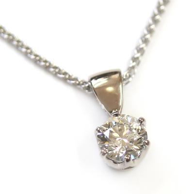 18ct White Gold Diamond Solitaire Pendant 1.jpg