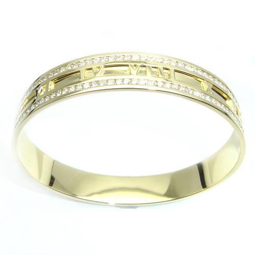 18ct Yellow Gold Cartier Style Diamond Set Bangle.jpg