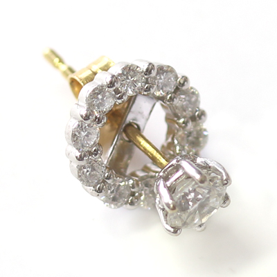 White Gold Interchangeable Diamond Halo Earrings 2.jpg