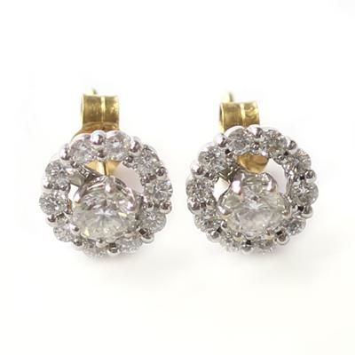 White Gold Interchangeable Diamond Halo Earrings 1.jpg