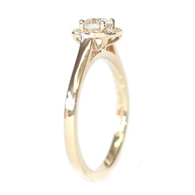 Fairtrade Yellow Gold Diamond Halo Engagement Ring 6.jpg