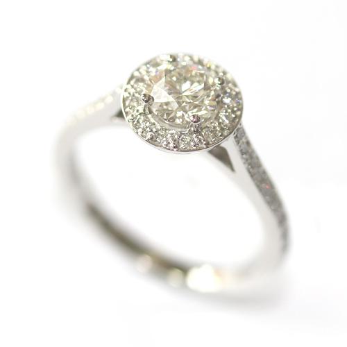 Platinum 0.60ct Round Brilliant Cut Diamond Halo Engagement Ring 2.jpg