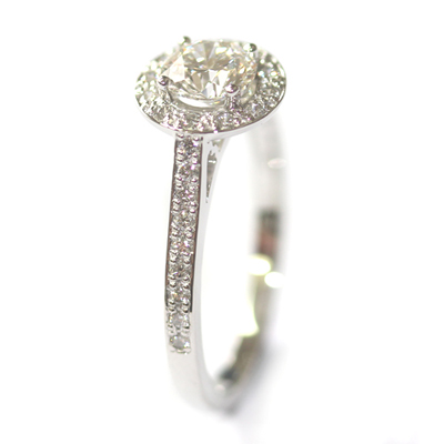 Platinum 0.60ct Round Brilliant Cut Diamond Halo Engagement Ring 3.jpg