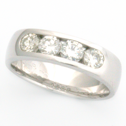 18ct White Gold Channel Set Diamond Engagement Ring.jpg