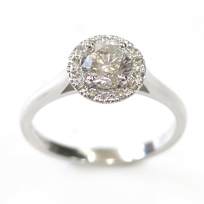 18ct White Gold Diamond Halo Style Engagement Ring 6.jpg
