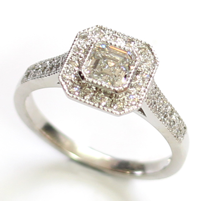 Platinum Asscher Cut Diamond Halo Engagement Ring 3.jpg
