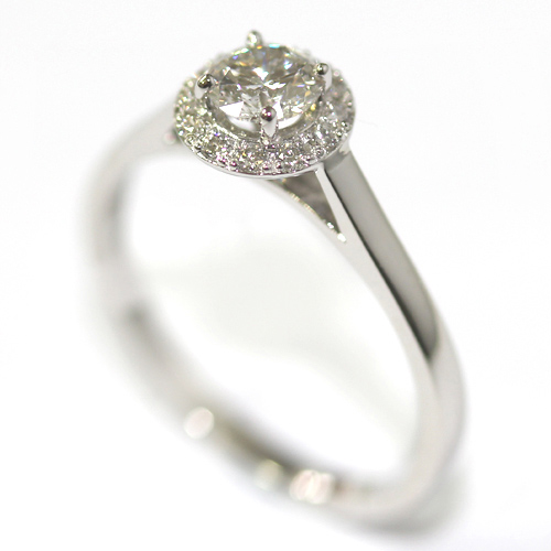Platinum Antique Style Diamond Halo Engagement Ring Form Bespoke Jewellers.jpg