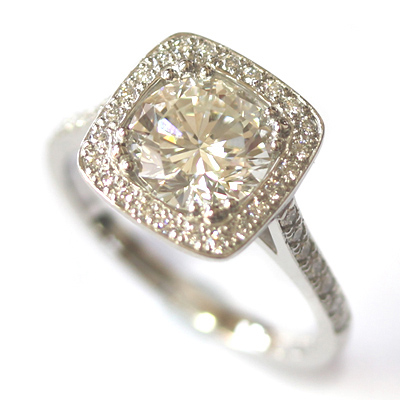 Platinum Tiffany Inspired Diamond Halo Engagement Ring 6.jpg