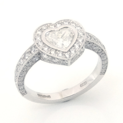 Platinum  Heart Cut Diamond Cluster Engagement Ring 2.jpg