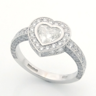Platinum  Heart Cut Diamond Cluster Engagement Ring 1.jpg