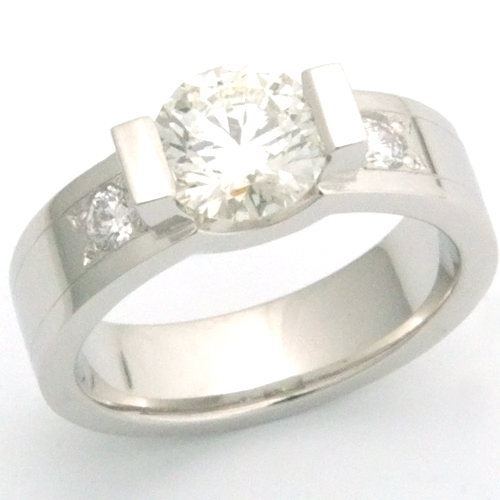 Platinum Diamond Tension Style Engagement Ring.jpg