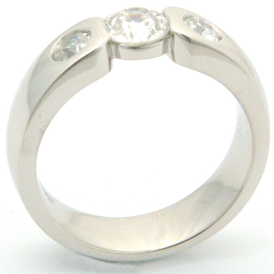 Palladium Engagement Ring using Customers Diamonds 1.jpg