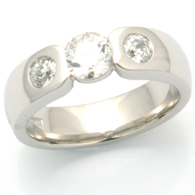 Palladium Engagement Ring using Customers Diamonds 2.jpg