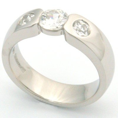 Palladium Engagement Ring using Customers Diamonds 3.jpg