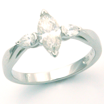 Trilogy Marquise and Pear Cut Diamond Engagement Ring 1.jpg