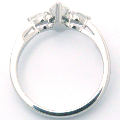 Trilogy Marquise and Pear Cut Diamond Engagement Ring 2.jpg