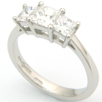 Platinum Trilogy Princess Cut Diamond Engagement Ring 1.jpg
