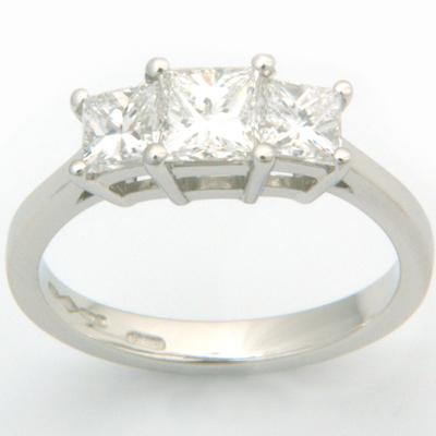 Platinum Trilogy Princess Cut Diamond Engagement Ring 2.jpg