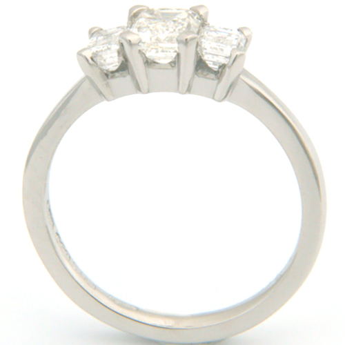 Platinum Trilogy Princess Cut Diamond Engagement Ring.jpg