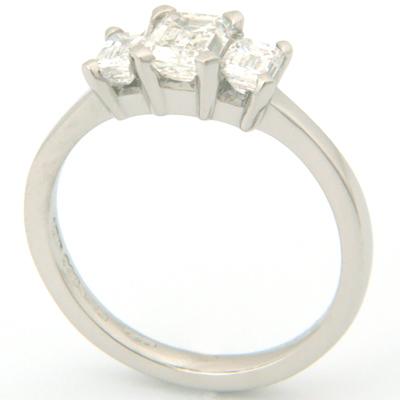 Palladium Trilogy Emerald Cut Diamond Engagement Ring 1.jpg
