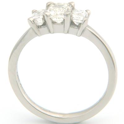 Palladium Trilogy Emerald Cut Diamond Engagement Ring 3.jpg