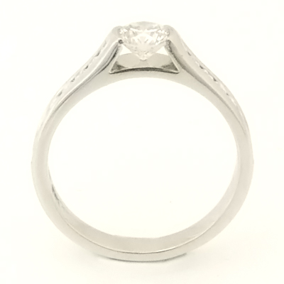 Platinum Engagement Ring with Channel Set Diamond Shoulders 2.jpg