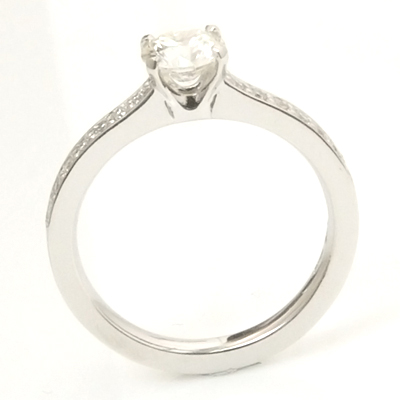 18ct White Gold Round Brilliant Cut Diamond Engagement Ring with Diamond Shoulders 2.jpg