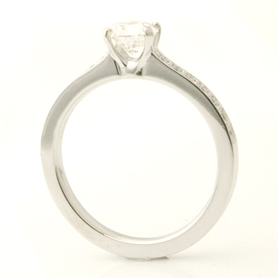18ct White Gold Round Brilliant Cut Diamond Engagement Ring with Diamond Shoulders 3.jpg