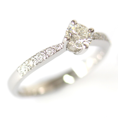 Palladium Round Brilliant Cut Diamond Engagement Ring 3.jpg