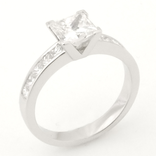 Platinum Round Brilliant Cut Diamond Engagement Ring.jpg