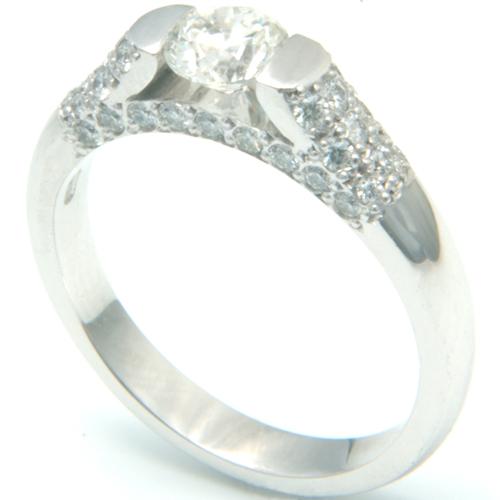 18ct White Gold Diamond Pave Engagement Ring.jpg