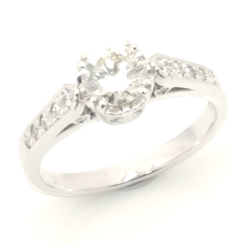 Platinum Oval Cut Diamond Engagement Ring with Diamond Set Band 2.jpg