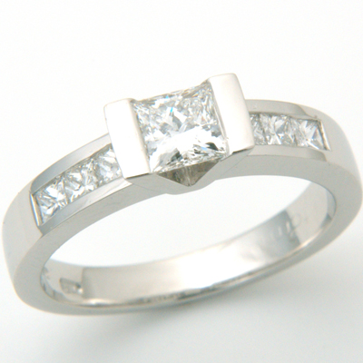Platinum Princess Cut Diamond Engagement Ring 1.jpg