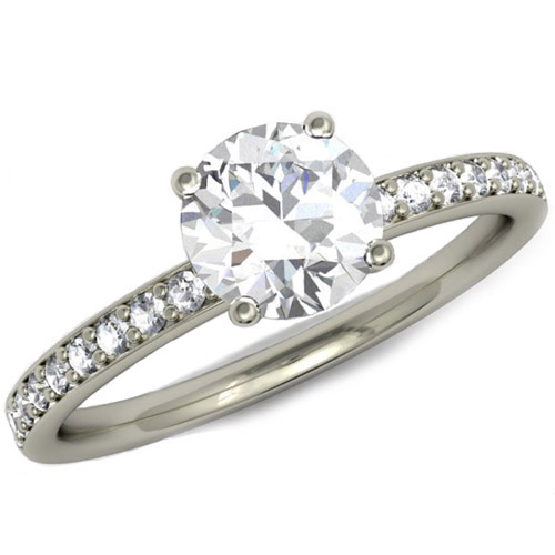 Platinum Solitaire Fully Diamond Set Engagement Ring.jpg