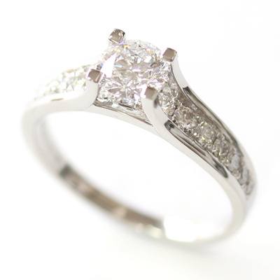 Platinum Engagement Ring using the Customer's Diamonds 2.jpg