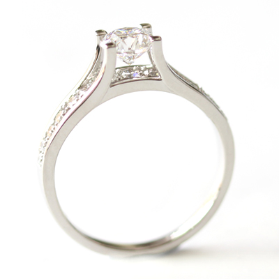 Platinum Engagement Ring using the Customer's Diamonds 5.jpg