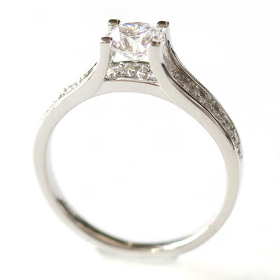 Platinum Engagement Ring using the Customer's Diamonds 7.jpg