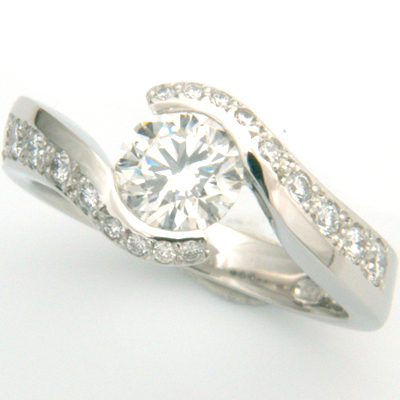 Platinum Cartier Inspired Diamond Engagement Ring 2.jpg