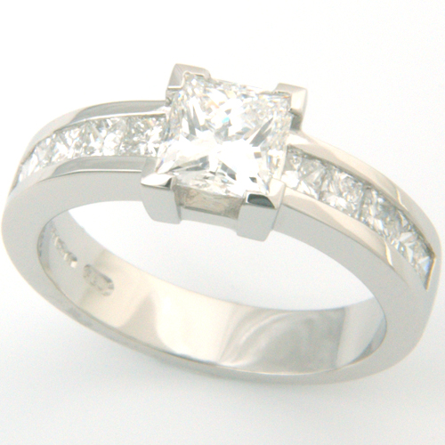 Platinum Channel Set Princess Cut Diamond Engagement Ring.jpg